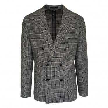 Paul Smith Black Check Double Breasted Jacket