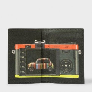 Paul Smith Black 'Leica Mini' Print Interior Leather Credit Card Wallet ATXC/4769/W880 79