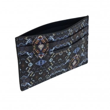 Paul Smith Black 'Mini Kaleidoscope' Leather Card Holder