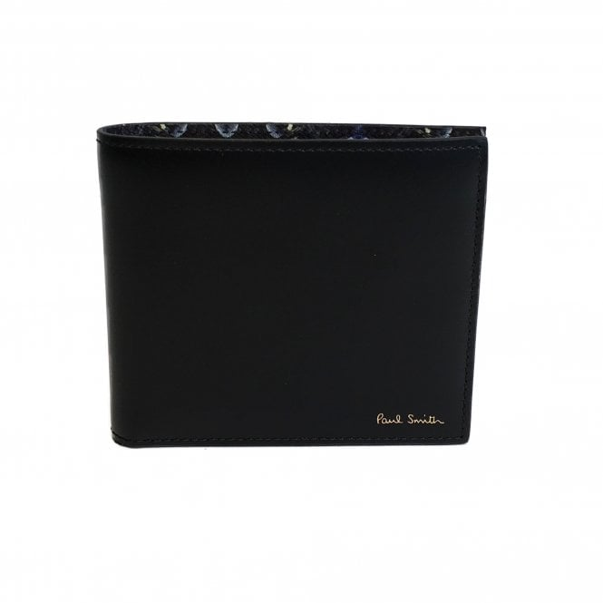 Paul Smith Black 'Mini Kaleidoscope' Leather Wallet