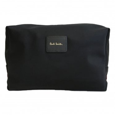 Paul Smith Black Signature Stripe Canvas Wash Bag