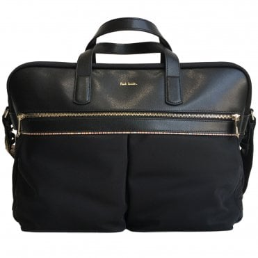 Paul Smith Black Signature Stripe Man Bag