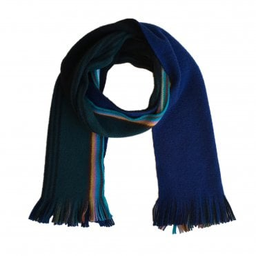 Paul Smith Blue & Black Two Tone Scarf