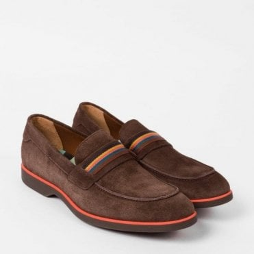 Paul Smith BLY Dark Brown Suede Loafers STXC-U133-SUE