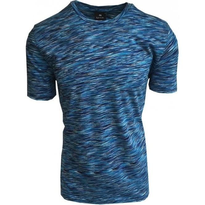 Paul Smith Bright Blue Patterned Short-Sleeve T-Shirt PUXD/051S/743 47