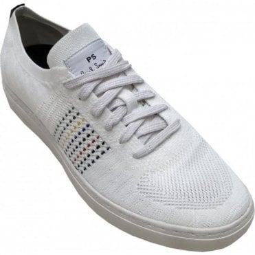 Paul Smith 'Doyle' White Mesh Knitted Trainers SUXD/V174/NYL 01