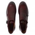 Paul Smith GILL Double Strap Monk Boots in Burgundy. SLXC/N012/PAR/B18
