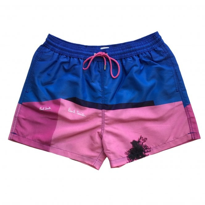 Paul Smith 'LA Shop' Print Swimming Shorts