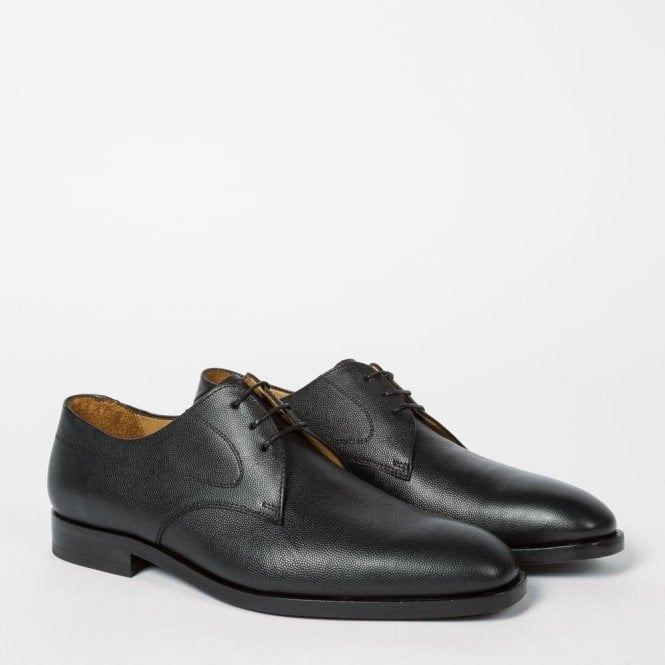 Paul Smith 'LEO' Black Grained Leather Derby Shoes - SSXD T092 OXG - B