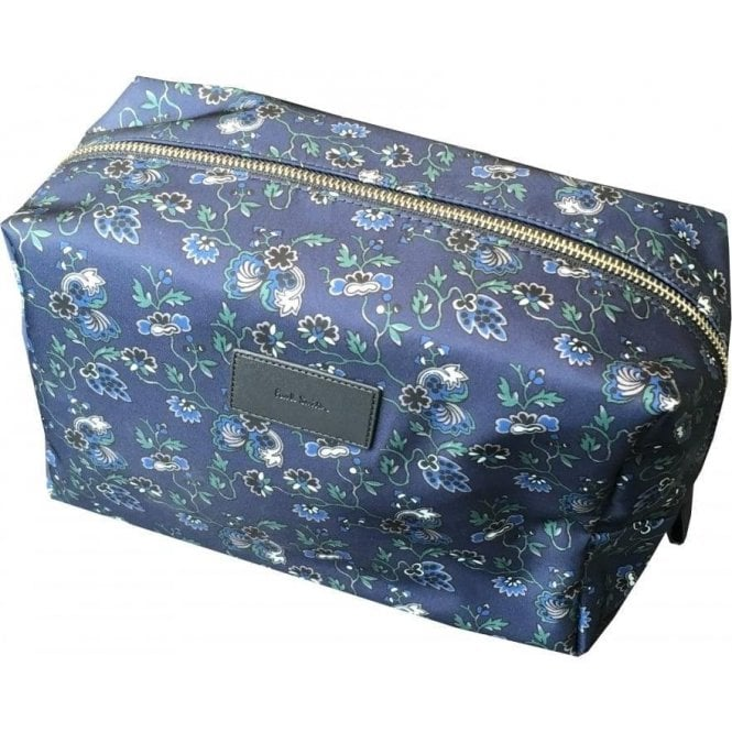Paul Smith 'Logan' Inky Navy Floral Print Nylon Blend Wash Bag ARXC/4643/L816/-/I