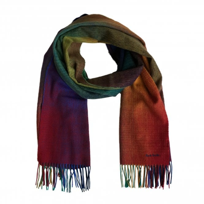 Paul Smith Multi-Coloured Gradient Scarf