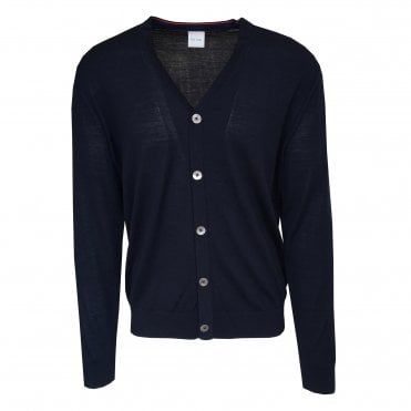 Paul Smith Navy Button Up Cardigan