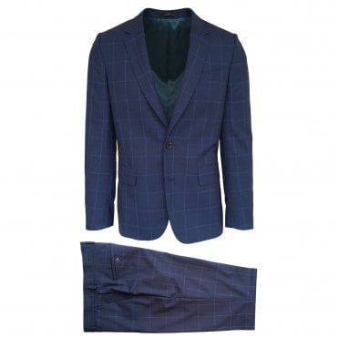 Paul Smith Navy Check Suit