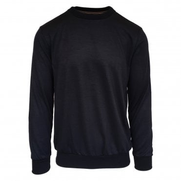 Paul Smith Navy Crewneck Sweatshirt with Artist-stripe