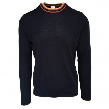Paul Smith Navy Jumper With Contrast Trim