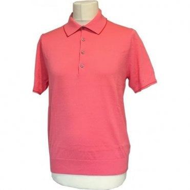 Paul Smith Pink Short-Sleeve Pullover Polo Shirt - PSXD 261R 480 - F