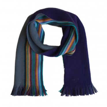 Paul Smith Purple & Grey Two Tone Scarf