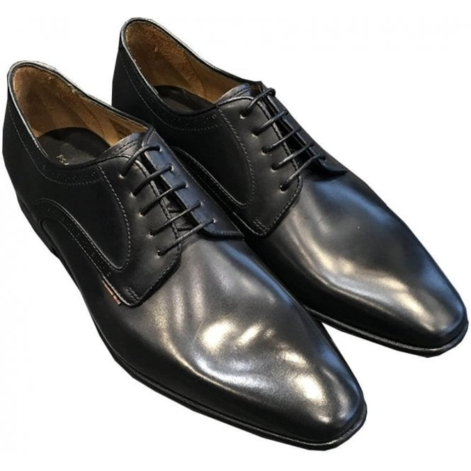 Paul Smith 'Roth' Black Burnished Leather Shoes STXD/U065/CLF 79