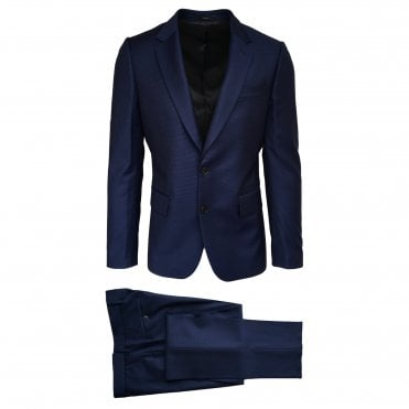 Paul Smith Royal Blue and Navy Micro Check Suit