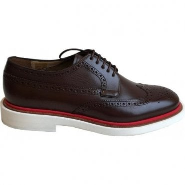 Paul Smith Shoes 'JUNIOR' Dark Brown Smart Shoes- SSXD T229 ACA - DS