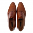 Paul Smith Shoes Paul Smith STARLING High Shine Shoes in Tan Hobar. SMPD/L188/ANT/T2