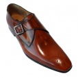 Paul Smith WREN High Shine Monk Shoes in Cuero Tan. SLXD/M206/HSH/C61