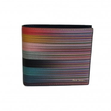 Paul Smith Signature Stripe Gradient Leather Wallet