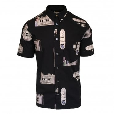Paul Smith Slim Fit 'Paul's Camera' Print Shirt