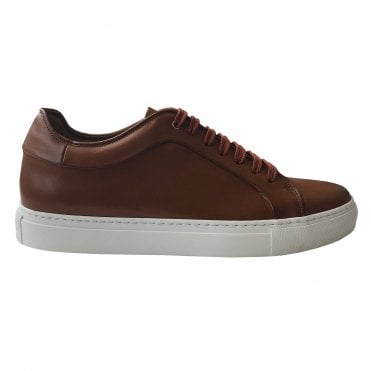 Paul Smith Tan Leather 'Basso' Trainer