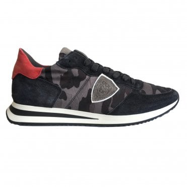 Philippe Model 'TropezX' Camouflage Trainer in Antracite