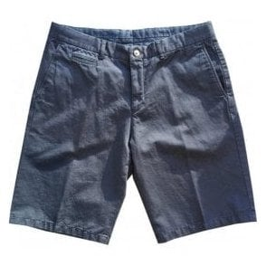 Altea Navy Cotton/Linen Blend Shorts 1853305 1