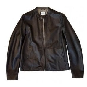 Armani Collezioni Black Real Lambs Leather Blouson Jacket RCR14P RCP02