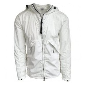 C.P. Company 50.3 Three Layer Water Resistant Cinquanta Fili White Goggle Jacket MOW087A00515G