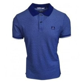 C.P. Company Bright Blue Short-Sleeve Polo Shirt MPL066A000973G 854