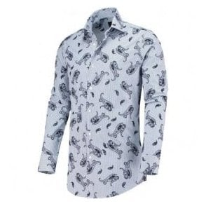 Circle Of Gentlemen 'Karl' Blue Paisley Pattern Shirt 10084 321