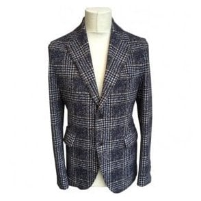 Circolo 1901 Navy Check Sports Jacket CN1592 171