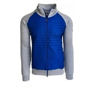 Colmar Originals Grey And Blue Padded Hoodie 14329