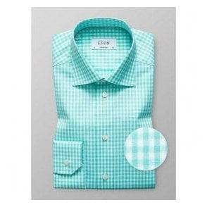 Eton Shirts Contemporary Fit Bright Green Check Shirt 33677931163