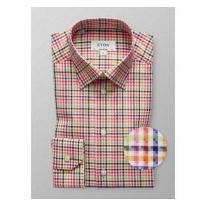Eton Shirts Contemporary Fit Multicoloured Print Shirt 39826131155