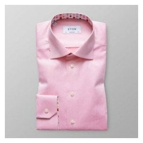Eton Shirts Contemporary Fit Pink Shirt With Ice Cream Trim 30000046155