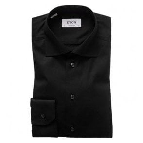 Eton Shirts Contemporary Fit Signature Twill Black Shirt 30007931118