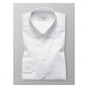 Eton Shirts Contemporary Fit White Shirt With Hidden Button Down Collar 30006131100