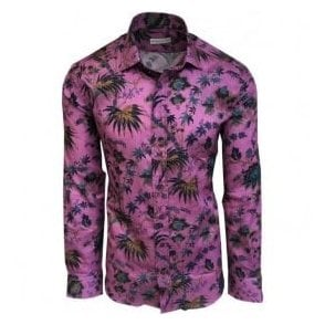 Etro Pink Floral Print Shirt in Italian Cotton 12908 4786 0651