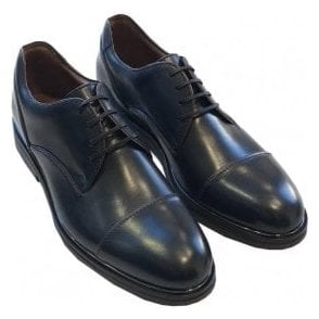 Etro 'Scarpa Uomo Stringata Fondon Gomma' Navy Leather Brogues 2848 0200