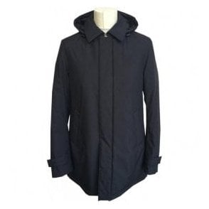 Herno Laminar Black Hooded Raincoat P1001UL 11121 9300