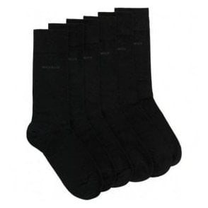 Hugo Boss '3P RS Gift Set UniCC' Three Pack Of Cotton Blend Black Socks 50377420