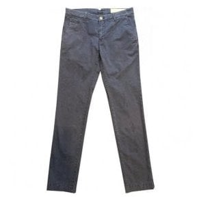 Jacob Cohen Navy Chinos Bobby Flag Comf 6510 866