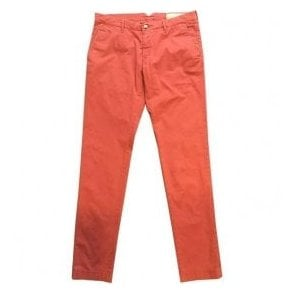 Jacob Cohen Red Chinos Bobby Flag Comf 6510 650