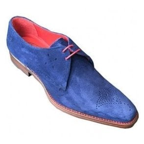 Jeffery West Barb Dexter Navy Suede Shoe