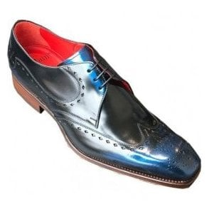 Jeffery West Blue Shine Leather Shoe